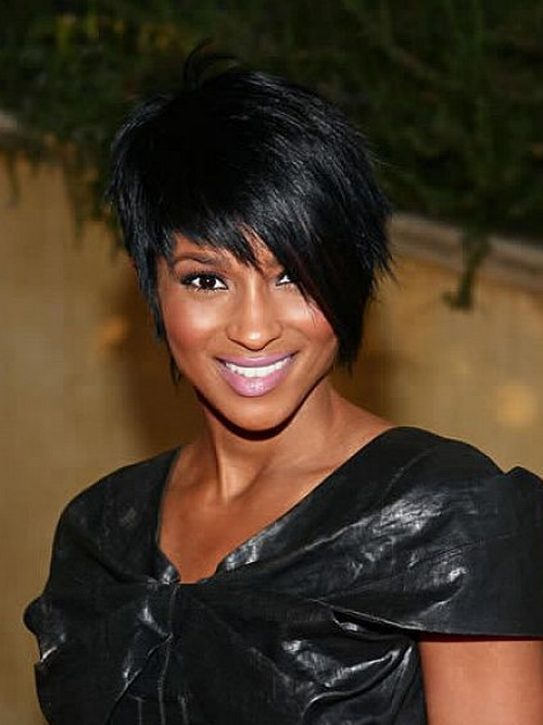 2014 Short Hairstyles Black Women Straight Hair