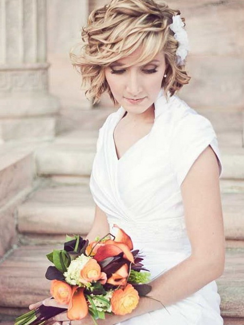Amazing Wedding Hairstyles for Short Hair