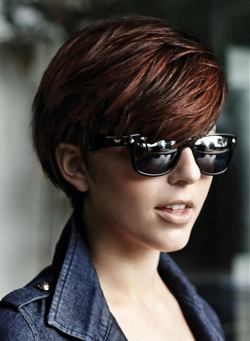 Cool Short Dark Hairstyles for Women