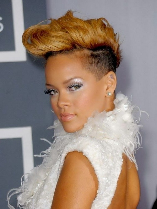 Rihanna Short Hairstyles 2014