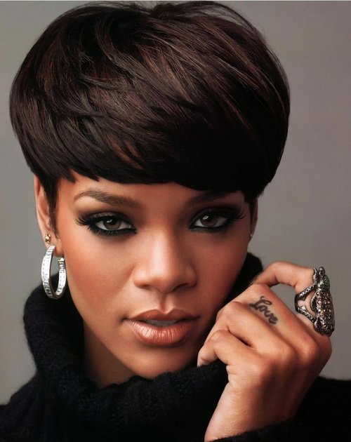 Rihanna Short Hairstyles Pictures