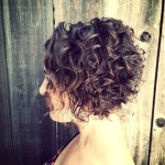 Asymmetrical Curly Messed Bob short hairstyle